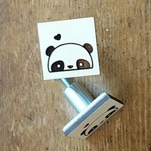 Panda Drawer Knobs Pulls Set Of 6 handmade